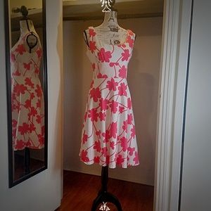 Maggy London Coral Floral Print Dress